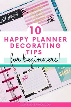 10 Happy Planner Decorating Tips For Beginners Create 365 Happy Planner, Mini Happy Planner, Best Planners, Day Planners, Personal Planners, Life Planner, Planner Ideas, College Planner, 2015 Planner