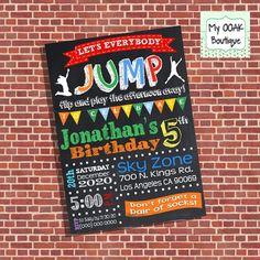 Family reunionparty dakotas 8th birthday pinterest party trampoline birthday party invitation jump invite by myooakboutique stopboris Images