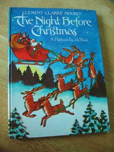 1970s Hallmark Pop-Up Book Christmas - The Night Before Christmas
