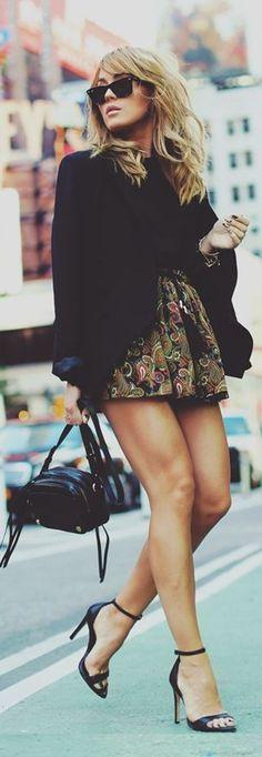 Angelica Blick Floral skater skirt <3