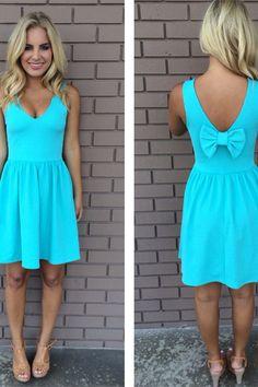 Cute Summer Dress Women Bowknot Skirts