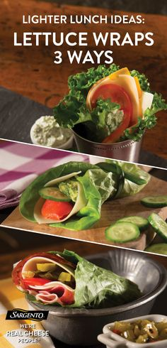 Next time you wrap, replace tortillas with lettuce, and use our Ultra Thin® cheese slices—which have all the flavor of our regular cheese slices with 45 calories per slice. It's a quick recipe for lunch, dinner, picnics and easy snacks. Hummus, avocado and sprouts make a hearty vegetarian option; chicken and ham keep it meaty alongside a host of wholesome veggies. Happy wrapping! Get the full recipe on our site.