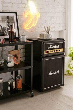 Aesthetic mini fridge in bedroom, man room, marshalls, room decor for guys,