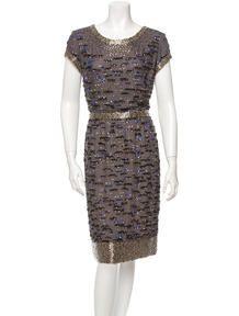 Oscar de la Renta Beaded Dress