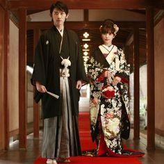 A wedding ceremony of the Japanese style. Wedding Kimono.