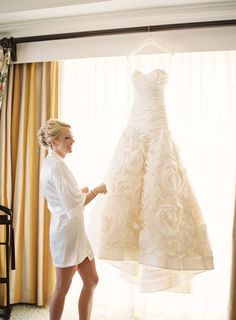 morning of wedding picture/ this dress LOVE THAT DRESS