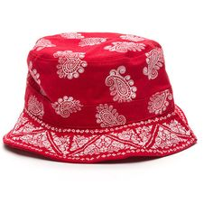 c297e067182 Bandana Babe Bucket Hat RED ( 13) ❤ liked on Polyvore featuring accessories