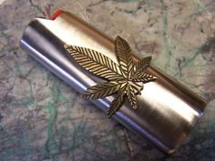 Bic Lighter Case with Hemp Leaf by DonsRepairs on Etsy