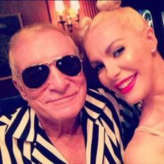 Hugh Hefner Dresses As Robin Thicke For Halloween, Wife Crystal Dresses As Miley Cyrus [READ MORE: http://uinterview.com/news/hugh-hefner-dresses-as-robin-thicke-for-halloween-wife-crystal-dresses-as-miley-cyrus-9348] #hughhefner #crystalharris #crystalhefner #halloween #robinthicke #mileycyrus #playboy #playboymansion #playboyhalloweenparty #halloweencostume