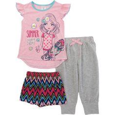 St-Eve-Girls-3-piece-Sleep-Set-Pink-Girl