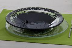 piatto in vetro fatto a mano © Alessandro Di Rosa