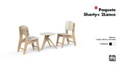 Silla y mesa baja, venta en paquete para cafetería o restaurante