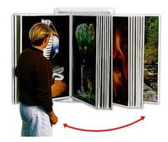 Wall mounted art display sytem