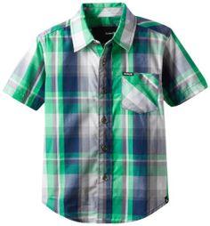 Hurley Little Boys' Destination Woven Shirt, Legacy Navy, 4 West 49, Hurley, Little Boys, Button Down Shirt, Men Casual, Plaid, Navy, Amazon, Clothing