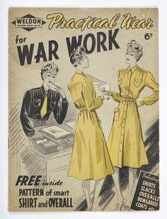 'Practical Wear for War Work' magazine, 1940s