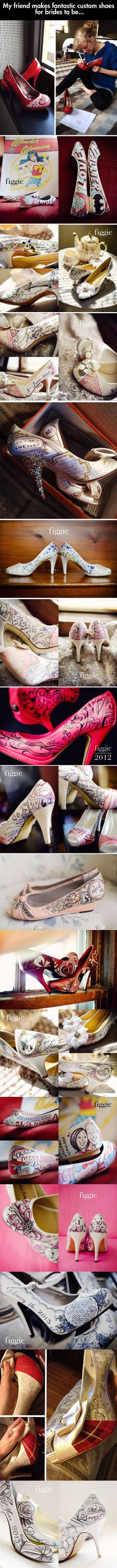 Stunning Customized Shoes.  I love this idea and wish it was around when I got married...*sigh*