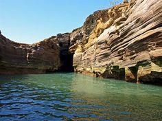A hidden lagoon on the uninhabited island of Alegranza Lanzarote More info at www.villaantonio.co.uk