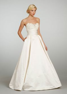Love the waist - Jim Hjelm Bridal Gowns, Wedding Dresses Style jh8306 by JLM Couture, Inc.