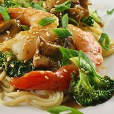 Shrimp with Broccoli in Garlic Sauce, naples34102