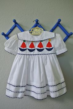Vintage Toddler Dress  Sailor Dress  By Love  Size by NellsNiche, $18.00