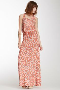 a43f7003f19 Printed Racerback Cowl Neck Maxi Dress by Fraiche By J on  HauteLook