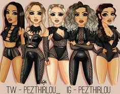 Little Mix Outfits, Little Mix Style, Fashion Design Sketchbook, Art Sketchbook, Ariana Grande, Litte Mix, Badass Outfit, Bff Drawings, Stage Outfits
