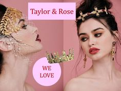 Irish blogger and stylist Ciara O'Doherty has launched an opulent hair couture accessories brand, Taylor & Rose. We're loving this ornate, distinct collection of crown, headpieces and hair accessories.