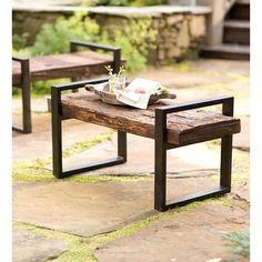 Exterior Simple Idea Of Long Diy Patio Bench Concept Made