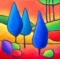 fauvist landscape lesson - Google Search