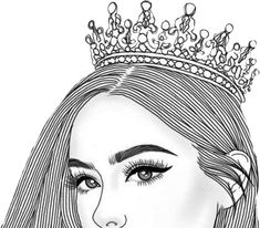 Beautiful Girl Clipart Black And White Tumblr Girl Drawing, Tumblr Drawings, Girl Drawing Sketches, Girly Drawings, Outline Drawings, Pencil Art Drawings, Art Drawing Images, Tumblr Tattoo, Tumblr Outline