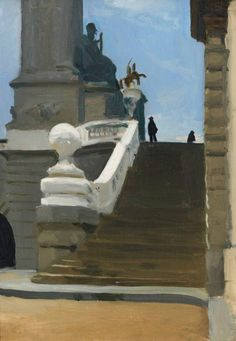 Edward Hopper Two Figures at Top of Steps in Paris, 1906