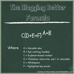 """Discover the 6 Essential Variables to the """"Blogging Better"""" Formula - by Alicia Rades"""