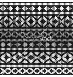 Seamless knitted geometric winter pattern vector by transia on VectorStock®