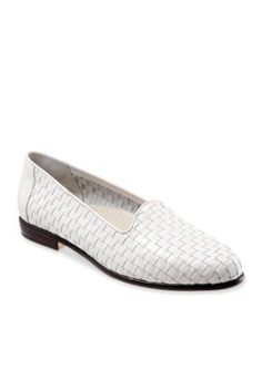Trotters White Liz Woven Loafer