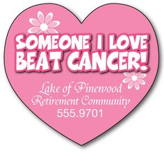 Awareness Magnet - Big Heart Shape (3.25x3) - 25 Mil.-81000425 (formerly 8004004) AWA001     www.logosurfing.com (800) 728-7192