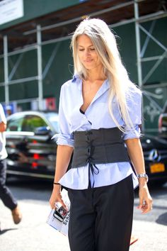 The coolest and most fashion-editor-approved way to rock a corset.