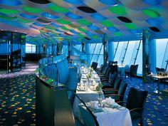 Burj Al Arab Hotel, Dubai - Al Muhara restaurant, interior design by Khuan Chew of KCA International