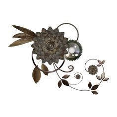 steampunk_cog_render_by_frozenstocks-d87lptu.png ❤ liked on Polyvore featuring steampunk and flowers