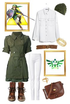"""Link {The Legend of Zelda}"" by chic-in-geek ❤ liked on Polyvore featuring MANGO, American Vintage, Maria Black, Nintendo, The Bridge, Buccellati, Jeffrey Campbell, Moncler, Jitrois and Polo Ralph Lauren"