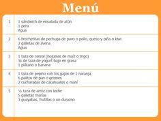 Tips Nutricionales menú niños 6-11 años