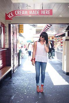 Shop this look on Kaleidoscope (tank, sunglasses, jeans, sandals)  http://kalei.do/WukGwNJrScDCx1ZF