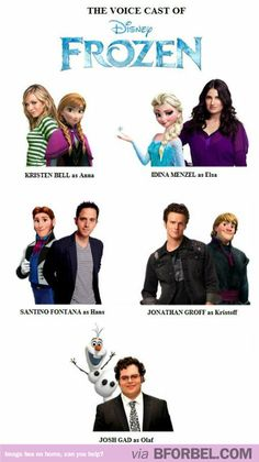 "The Voice Cast Of ""Frozen""… Everyone Was Previously On Broadway!"