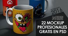 22 mockups psd en DESCARGA GRATIS - Lettering Time Photoshop, Free, Mugs, Tableware, Design, Knowledge, Dinnerware, Tumblers, Tablewares