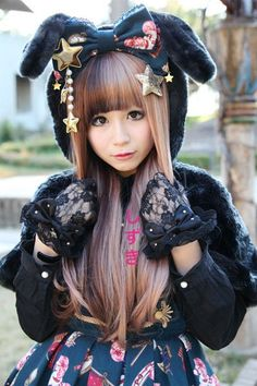 Cute lolita bunny outfit