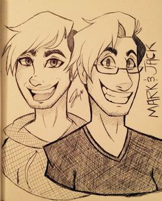 A few people have asked me to draw Darkiplier and AntiSepticEye so here are my rough test versions of them...