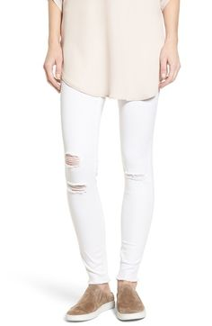 Hue Ripped Denim Leggings available at #Nordstrom