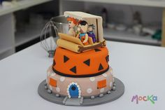 Baby Birthday, Birthday Parties, Birthday Cakes, Cake Pops, Fred Flintstone, Cake Decorating With Fondant, Types Of Cakes, Unique Cakes, Themed Cakes