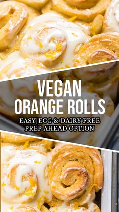 Orange Cinnamon Rolls, Orange Sweet Rolls, Vegan Cinnamon Rolls, Vegan Sweets, Vegan Desserts, Vegan Food, Dairy Free Recipes, Vegan Recipes, Orange Recipes Vegan