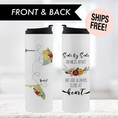 Sister Gifts, Best Friend Gifts, Gifts For Friends, Gifts For Mom, True Friends, Personalized Tumblers, Custom Tumblers, Personalized Gifts, Coffee Lover Gifts