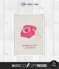 Blondie  Hanging on the telephone  Music by MusicConceptPosters, $22.00 on Etsy!!